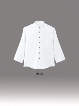 BS-08923 スタンドカラー 七分袖シャツ(男女兼用) カラー一覧