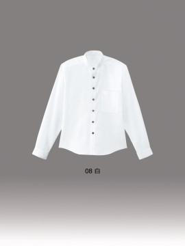 BS-08919 スタンドカラー 長袖シャツ(男女兼用) カラー一覧