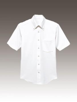 BS-23308 ニットボタンダウンシャツ トップス ホワイト 白