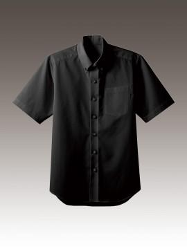 BS-33308 ボタンダウンシャツ トップス ブラック 黒