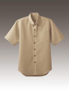 BS-33308 ボタンダウンシャツ トップス ベージュ