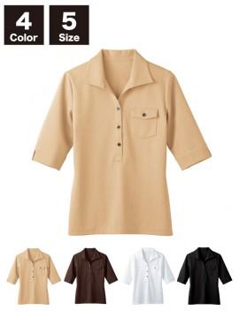 BS-00103 ニットワッフルシャツ 七分袖(レディース) 商品一覧