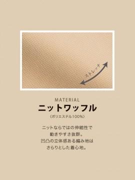 BS-00102 ニットワッフルシャツ 半袖(男女兼用) 生地