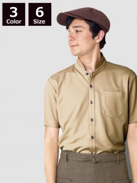 BS-23304 スタンドカラーシャツ(男女兼用) 着用イメージ