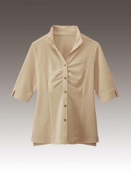 BS-24229 ウィングカラーシャツ ベージュ