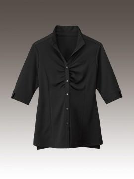 BS-24229 ウィングカラーシャツ 黒