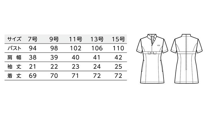 BS-00115 チュニックシャツ(レディース) サイズ