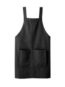 BS-03197 胸当てエプロン(男女兼用) 黒