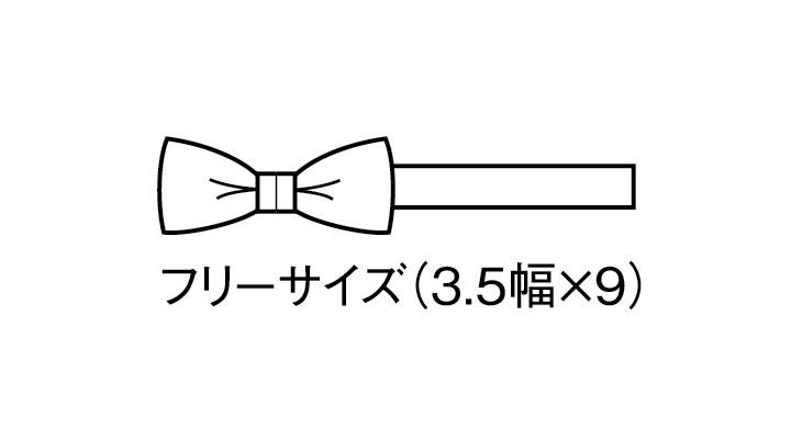 BS-03052 ミニ蝶タイ(レディース) サイズ