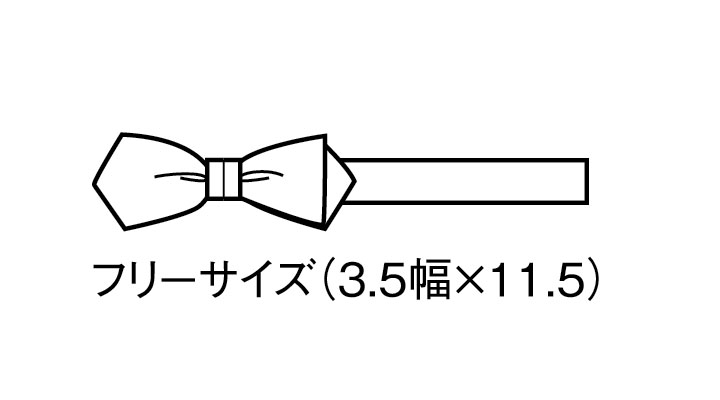 BS-1040 剣蝶タイ(男女兼用) サイズ