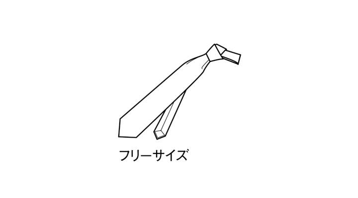 BS-98119 ネクタイ サイズ表