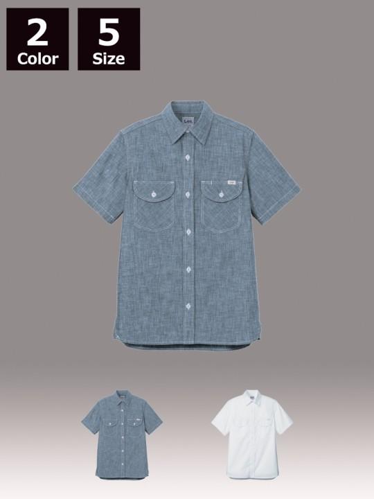 BM-LCS46005 メンズシャンブレー半袖シャツ