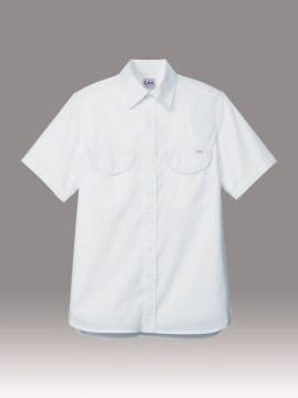 BM-LCS46005 メンズシャンブレー半袖シャツ 拡大画像 ホワイト
