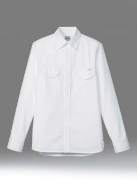 BM-LCS43003 レディースシャンブレー長袖シャツ 拡大画像 ホワイト