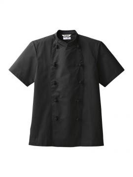 ARB-AS8049 コックコート(男女兼用・半袖) 黒 コック服