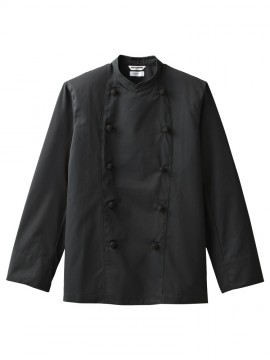 ARB-AS8048 コックコート 男女兼用 長袖 ブラック 黒 ユニセックス