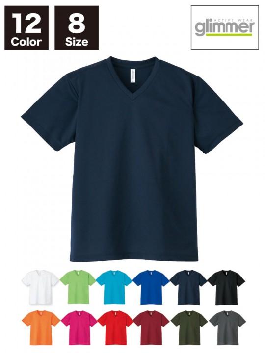 4.4オンス ドライVネックTシャツ