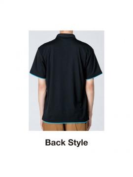 WE-00339-AYP 4.4oz ドライレイヤードポロシャツ バックスタイル