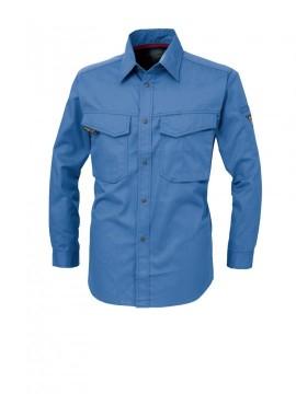XB-1473 長袖シャツ ポケット ペン差し ノーフォークスタイル 樹脂ドットボタン