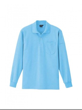 XB6025 カノコ長袖ポロシャツ 拡大図