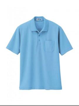 XB6100 半袖ポロシャツ 拡大図 サックス