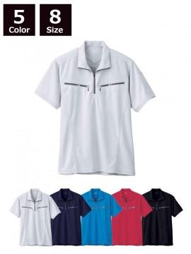 半袖ジップアップシャツ