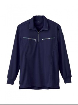 XB6165 長袖ジップアップシャツ 拡大図