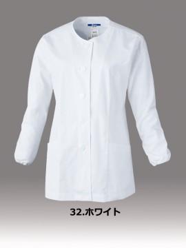 レディス長袖上衣(衿ナシ)
