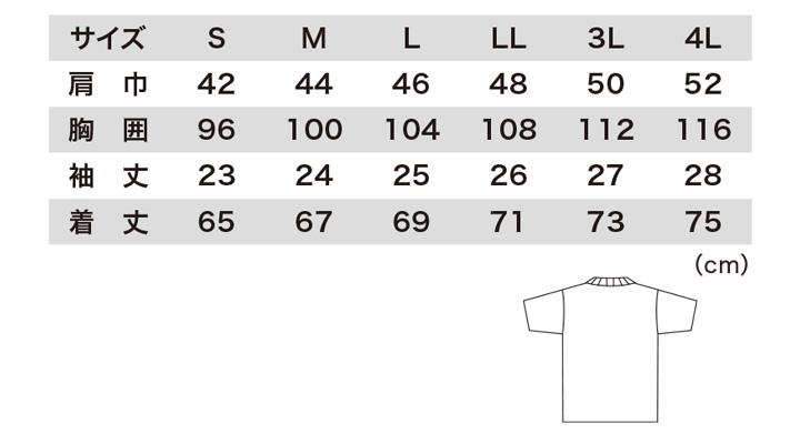 35000 半袖Tシャツ サイズ表