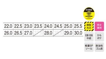 85127 プロスニーカー サイズ表
