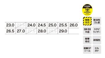 85134 プロスニーカー サイズ表