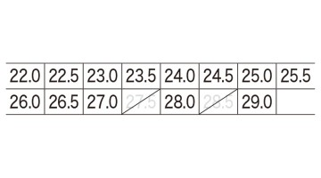 XB85803 静電スポーツシューズ サイズ表