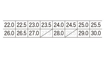 85404 セフティシューズ サイズ表