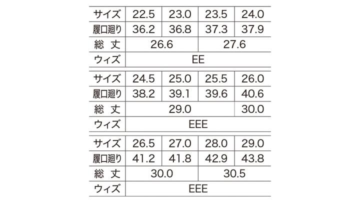 85760 衛生長靴 サイズ表