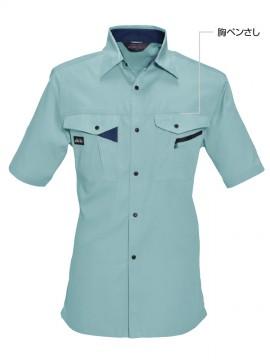 BUR6025 半袖シャツ 胸ペンさし