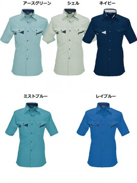BUR6025 半袖シャツ カラー一覧