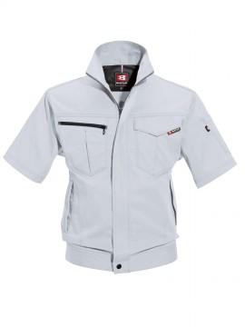 BUR6082 半袖ジャケット(ユニセックス) シルバー