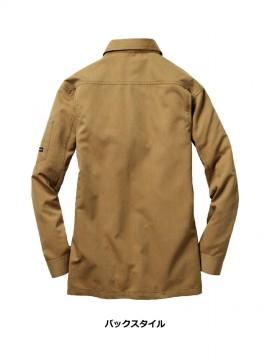 BUR8063 長袖シャツ バックスタイル