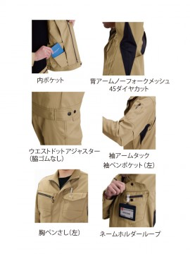 BUR7091 ジャケット(ユニセックス) 多機能紹介
