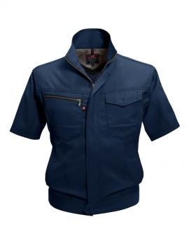 BUR7092 半袖ジャケット(ユニセックス) ネイビー