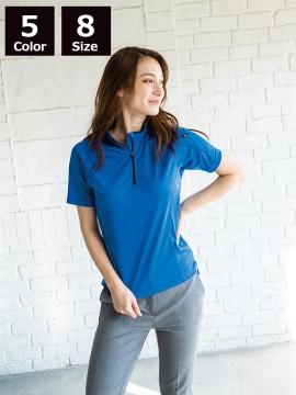 半袖ジップシャツ