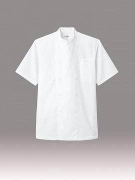 ARB-AS8047 コックシャツ 半袖 ホワイト 白