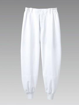 DF7701 パンツ(男女兼用・ノータック・両脇ゴム) 拡大画像