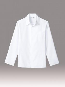 ARB-AS8218 コックシャツ(男女兼用・長袖) ホワイト