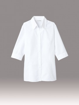 ARB-BL8057 ブラウス(レディス・七分袖) ホワイト