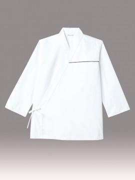 ARB-DN8022 ジンベイ(男女兼用・長袖) 拡大画像・ホワイト