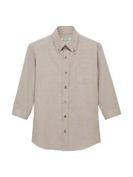 ARB-EP7915 ボタンダウンシャツ(男女兼用・七分袖) ベージュ