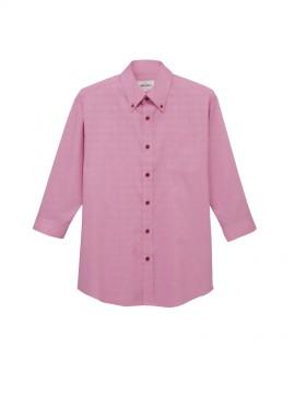 ARB-EP7915 ボタンダウンシャツ(男女兼用・七分袖) ピンク