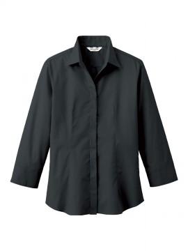 ARB-EP7736 シャツ(レディス・七分袖) ブラック