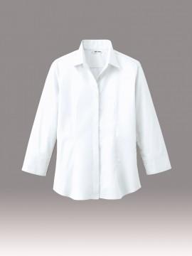 ARB-EP7736 シャツ(レディス・七分袖) オフホワイト